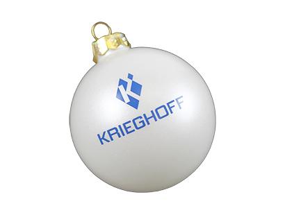 Glass Ornament, White