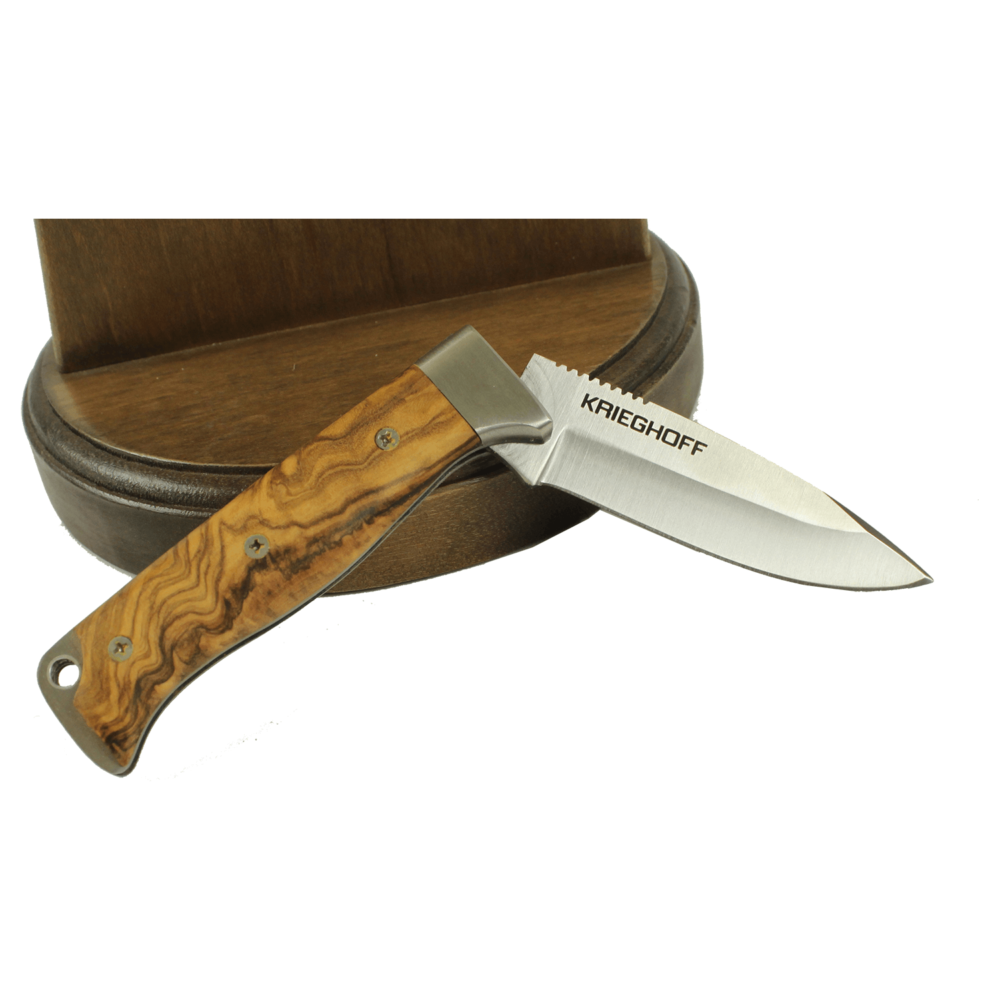Knife, Cudeman, 331-L with Natural Olive Wood Handle