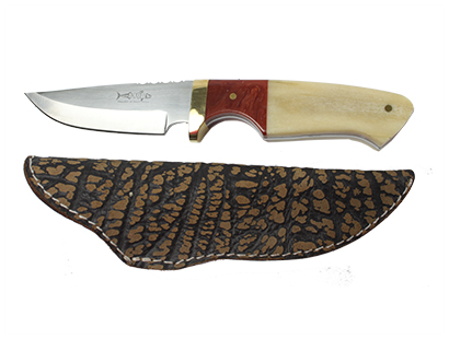 Mackrill Knife with Giraffe Bone and Amber Stone